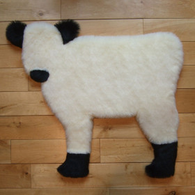 White Galloway Calf rug