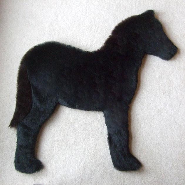 Black foal rug