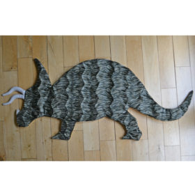 Patterned Triceratops Rug