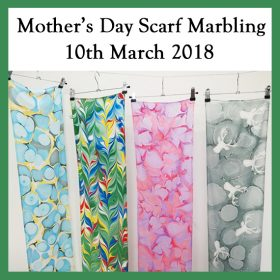 Mother's day silk scarf marbling – 10th March 2018