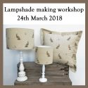 Lampshade making workshop 24th March 2018