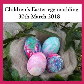 Children's Easter egg marbling workshop – 30th March 2018
