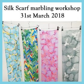 Silk scarf marbling workshop – 31st March 2018