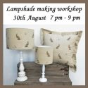 Professional lampshade making workshop